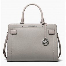 Michael Kors Rayne medium saffiano leather kabelka pearl grey