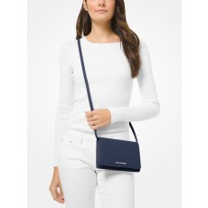 Michael Kors saffiano leather crossbody convertible navy modrá