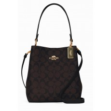 Coach malá kabelka small bucket town signature brown