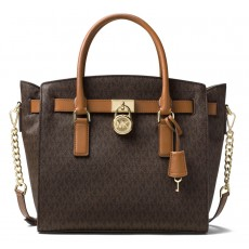 Michael Kors Studio Hamilton large east west satchel brown