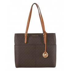 Michael Kors kabelka Bedford large pocket tote brown