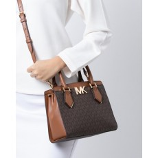 Kabelka Michael Kors Mott medium signature brown