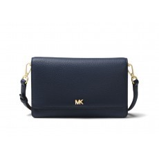 Michael Kors convertible pebble leather crossbody admiral modrá