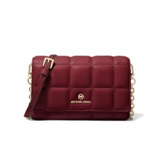Michael Kors small quilted leather smartphone crossbody berry