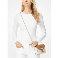 Michael Kors kabelka medium color-block convertible crossbody vanilla
