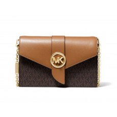 Michael Kors kabelka medium color-block convertible crossbody brown hnědá
