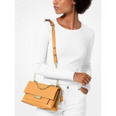 Michael Kors Cece medium leather crossbody kabelka cider
