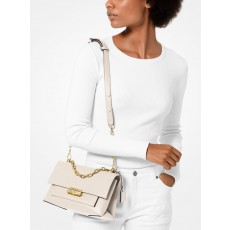 Michael Kors Cece medium leather crossbody kabelka light sand