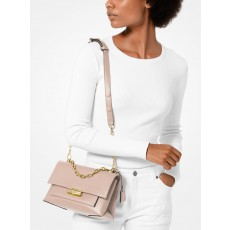 Michael Kors Cece medium leather crossbody kabelka růžová soft pink