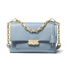 Michael Kors Cece medium leather crossbody kabelka modrá pale blue