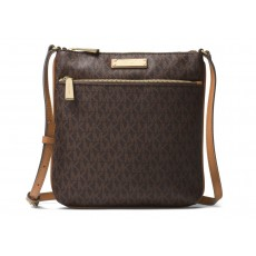Michael Kors Riley logo crossbody brown hnědá