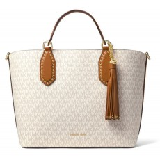 Michael Kors kabelka Brooklyn large logo vanilla