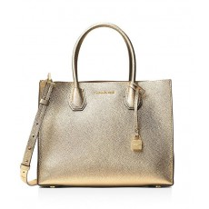 Michael Kors Mercer large leather tote pale gold