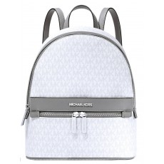 Michael Kors batoh Kenly medium logo bright white