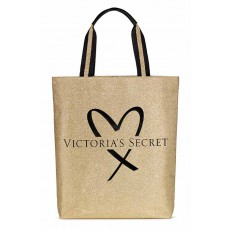 Victoria's Secret fashion show glamour glitter tote gold