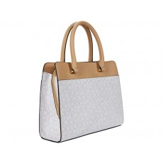 Calvin Klein kabelka Triple compartment signature champagne/white