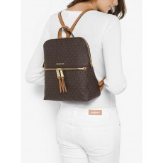 Michael Kors batoh Rhea medium slim logo brown