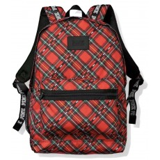 Victoria´s Secret batoh PINK campus tartan black/red