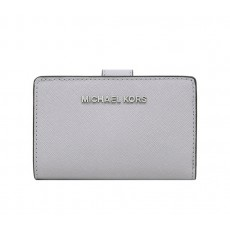 Peněženka Michael Kors Bifold medium leather pearl gray šedá