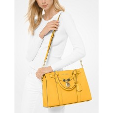 Kabelka Michael Kors Nouveau Hamilton large pebble lether sunflower žlutá
