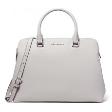 Michael Kors kabelka Idina medium saffiano leather aluminum šedá