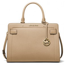 Michael Kors Rayne medium saffiano leather kabelka bisque