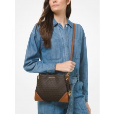 Michael Kors kabelka Nicole large triple logo crossbody brown