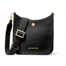 Michael Kors Briley small pebbled leather messenger kabelka černá
