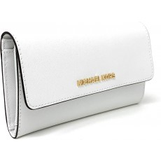 Michael Kors peněženka Trifold leather optic white