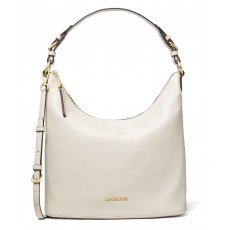 Kabelka Michael Kors Lupita large lethar shoulder bag cream