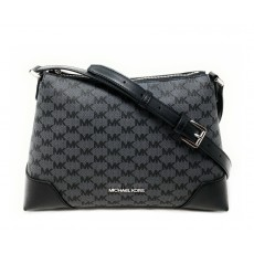 Michael Kors kabelka Crosby medium messenger black signature