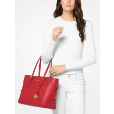 Michael Kors kabelka Voyager medium crossgrain leather červená bright red