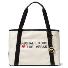 Michael Kors kabelka Tha Michael large canvas Las Vegas tote natural
