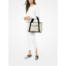Michael Kors kabelka Tha Michael large canvas Miami tote natural
