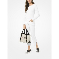 Michael Kors kabelka Tha Michael large canvas New York tote natural