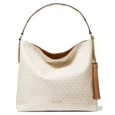 Michael Kors kabelka Brooklyn large logo shoulder bag vanilla