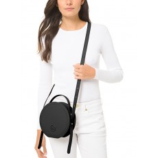 Michael Kors Aidy medium leather canteen crossbody černá