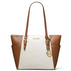 Kabelka Michael Kors Charlotte large logo and leather vanilla