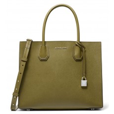 Michael Kors Mercer large saffiano leather kabelka oregano zelená