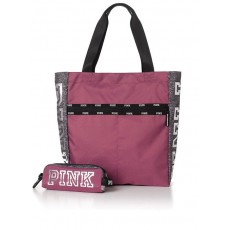 "Victoria""s Secret PINK tote & tech pouch bayberry"