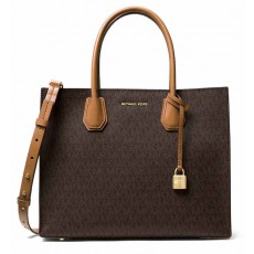 Kabelka Michael Kors Mercer large logo tote brown