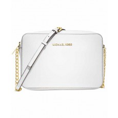 Michael Kors jet set large crossbody white/gold