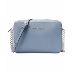 Michael Kors jet set large crossbody pale blue