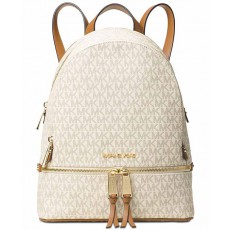 Michael Kors Rhea zip medium backpack vanilla