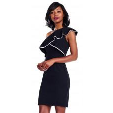 Adrianna Papell černé luxusní společenské šaty na špagetová ramínka ... 9e68e027ad