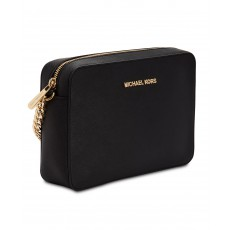 Michael Kors jet set large crossbody kabelka black/gold