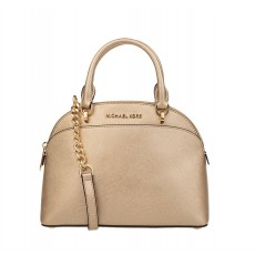 Michael Kors Emmy small dome leather tote pale gold