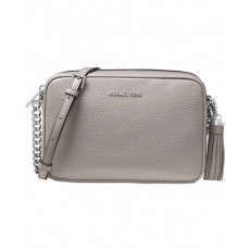 Michael Kors Ginny medium camera bag pearl gray