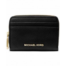 Michael Kors peněženka zip around saffiano black
