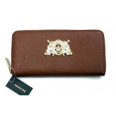 Kožená peněženka Juicy Couture zip around brown